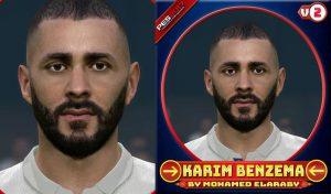 دانلود فیس Karim Benzema V2 برای PES 2017 فصل 2020