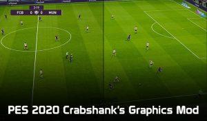 دانلود مود گرافیکی Crabshank's Graphics برای PES 2020 ( مود چمن و Reshade V4 )