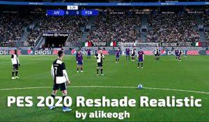 دانلود مود Reshade Realistic برای PES 2020 توسط alikeogh
