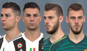 دانلود فیس Ronaldo و De Gea برای PES 2017 توسط WER