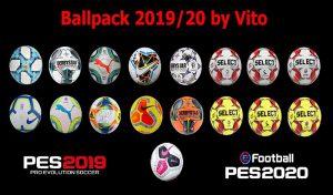 دانلود پک توپ 2019/2020 برای PES 2020 توسط Vito