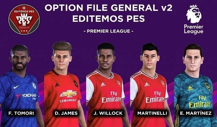 آپشن فایل Editemos V2 برای PES 2020