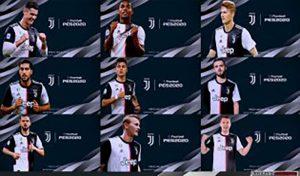 استارت اسکرین بازیکنان Juventus برای PES 2013 توسط Kazemario