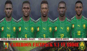 فیس پک Cameroon برای PES 2017 – ورژن 1 توسط Eddie