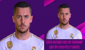 فیس ادن هازاد Eden Hazard برای PES 2017 توسط Shenawy