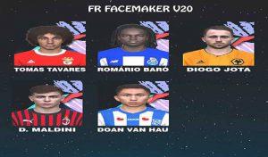 فیس پک V20 برای PES 2017 توسط FR Facemaker