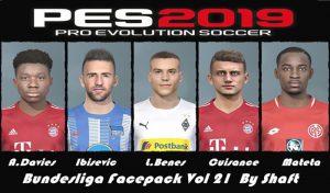 فیس پک Bundesliga Vol 21 برای PES 2019 توسط Shaft