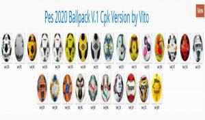 توپ پک Ballpack V.1 Cpk Version برای PES 2020