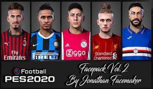 فیس پک Vol 2 برای PES 2020 توسط Jonathan facemaker