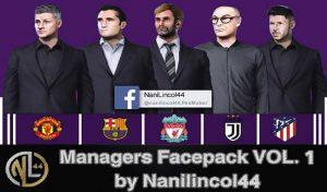 فیس پک مربی V1 برای مسترلیگ PES 2020 توسط nanilincol44