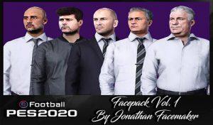 فیس پک مربی V1 برای مسترلیگ PES 2020 توسط Jonathan