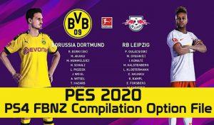 دانلود آپشن فایل FBNZ V1 برای PES 2020 مخصوص PS4