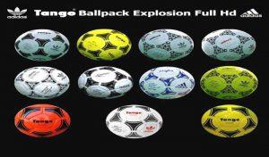 توپ پک Tango Ballpack Explosion Full HD برای PES 2020
