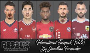 فیس پک International Vol 38 برای PES 2019