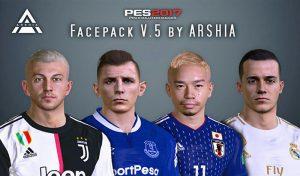 دانلود فیس پک V.5 برای PES 2017 توسط ARSHIA