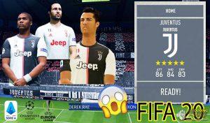دانلود مود فول لایسنس یوونتوس در FIFA 20