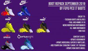 پک کفش Boot Repack AIO SEPTEMBER برای PES 2017