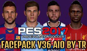 فیس پک V35 و V36 برای PES 2017 توسط TR