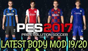 مود گرافیک مدل بدن Mod Body Kits 2019/2020 برای PES 2017