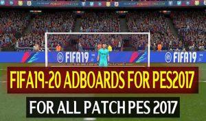 پک ادبورد FIFA 20 برای PES 2017 توسط DzPlayZ