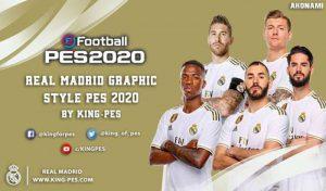 منو گرافیکی رئال مادرید 2020 برای PES 2017 توسط King PES