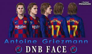 فیس Antoine Griezmann برای PES 2020 توسط DNB Face