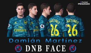 فیس Damian Martinez برای PES 2020 توسط DNB Face