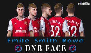 فیس Emile Smith Rowe برای PES 2020 توسط DNB Face