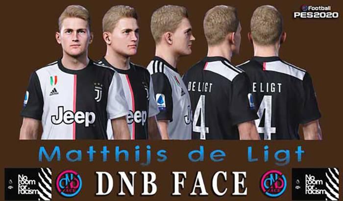 فیس Matthijs de Ligt برای PES 2020 و PES 2019 توسط DNB Face