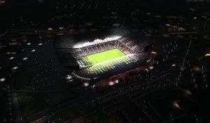 مود استادیوم Old Trafford Vista aerea برای PES 2020