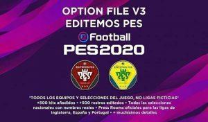 آپشن فایل Editemos V3 برای PES 2020 کنسول PS4