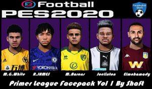 فیس پک لیگ جزیره Vol1 برای PES 2020 توسط Shaft