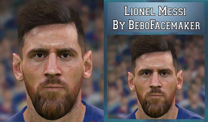 فیس Messi برای PES 2017 توسط Bebo Facemaker