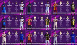 کیت پک سوپرلیگ ترکیه فصل 2019/20 برای PES 2020