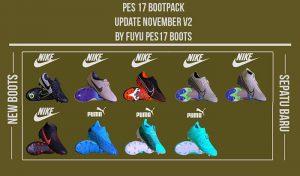 پک کفش V2 فصل 2019/2020 برای PES 2017 توسط FuyuPES17 Boots