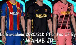 کیت پک بارسلونا 2020/2021 برای PES 2017 توسط Wahab JR
