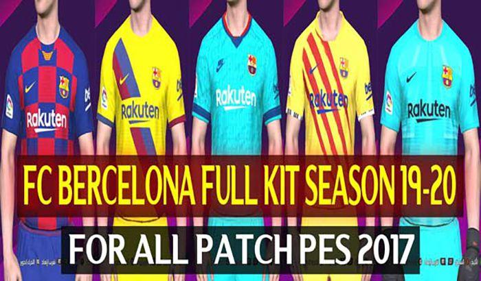 فول کیت پک بارسلونا فصل 2019/20 برای PES 2017 توسط DzPlayZ