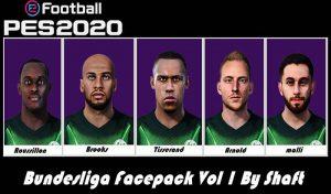 فیس پک بوندسلیگا Vol 1 برای PES 2020 توسط Shaft