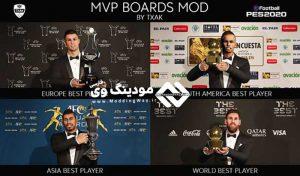 مود گرافیک MVP Boards برای PES 2020 توسط Txak