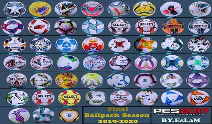 پک کامل توپ فصل 2019/2020 برای PES 2017 توسط EsLaM