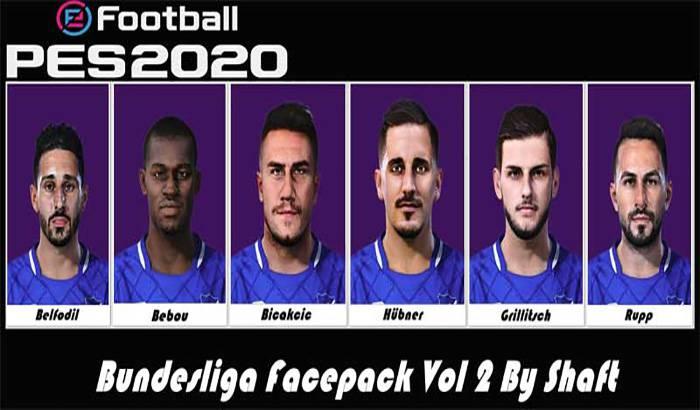 فیس پک بوندسلیگا Vol 2 برای PES 2020 توسط Shaft