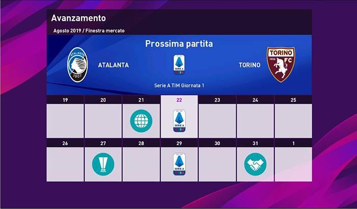 گرافیک مسترلیگ Serie A برای PES 2020