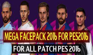 مگا فیس پک فصل 2020 برای PES 2016 توسط DzPlayZ