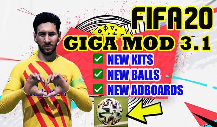 دانلود GIGA Mod V3.1 برای FIFA 19 + آپدیت انتقالات 2020