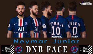 فیس Neymar برای PES 2020 و PES 2019 توسط DNB Face