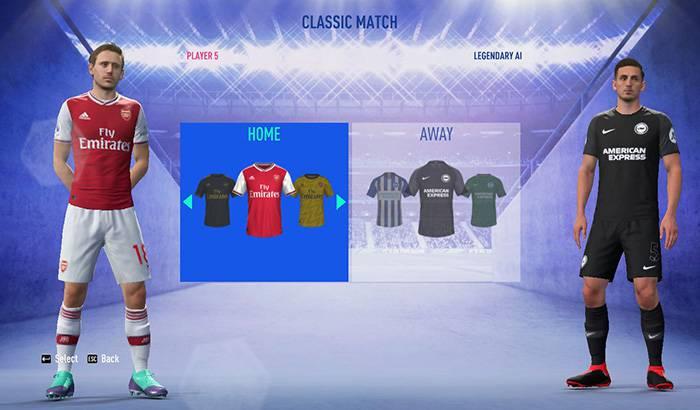 کیت پک لیگ انگلیس 2019/2020 برای FIFA 19