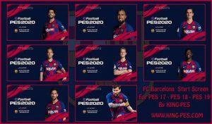 پک استارت اسکرین بارسلونا 2020 برای PES 2017