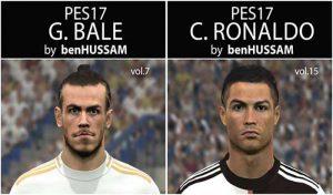 فیس Ronaldo و فیس Bale با موی جدید برای PES 2017