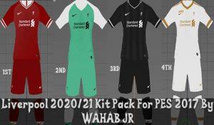 پک لباس لیورپول 2020/2021 برای PES 2017 توسط Wahab JR