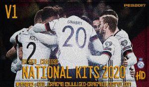 کیت پک تیم های ملی 2019/2020 برای PES 2017 توسط Geo-Craig90